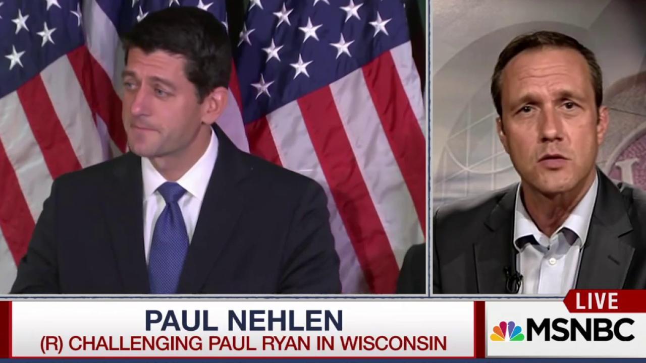 Ryan's Primary Opponent Backs Trump