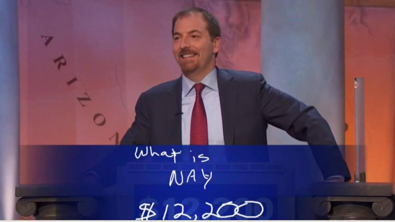 Chuck Todd makes a power play on Jeopardy