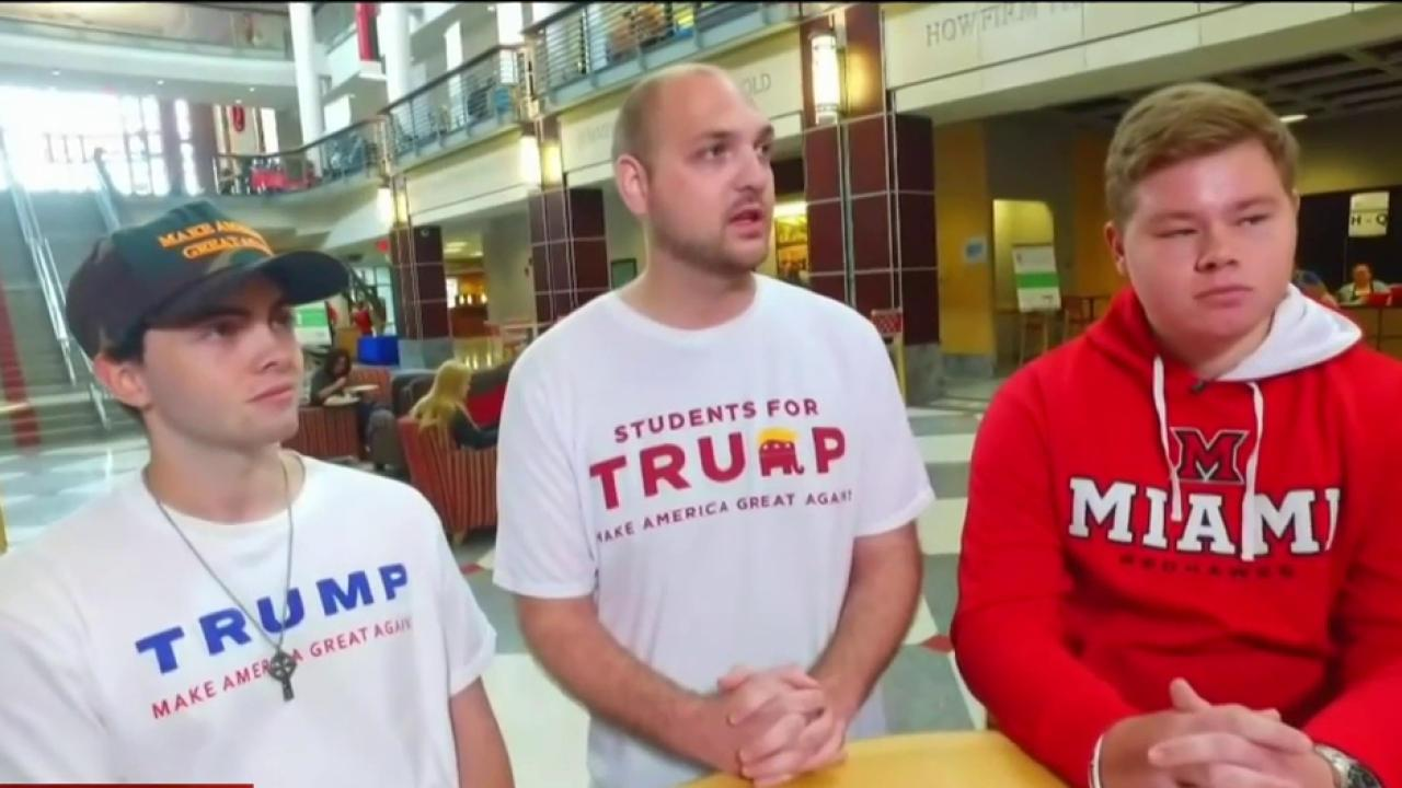 Students push for Trump victory on campus