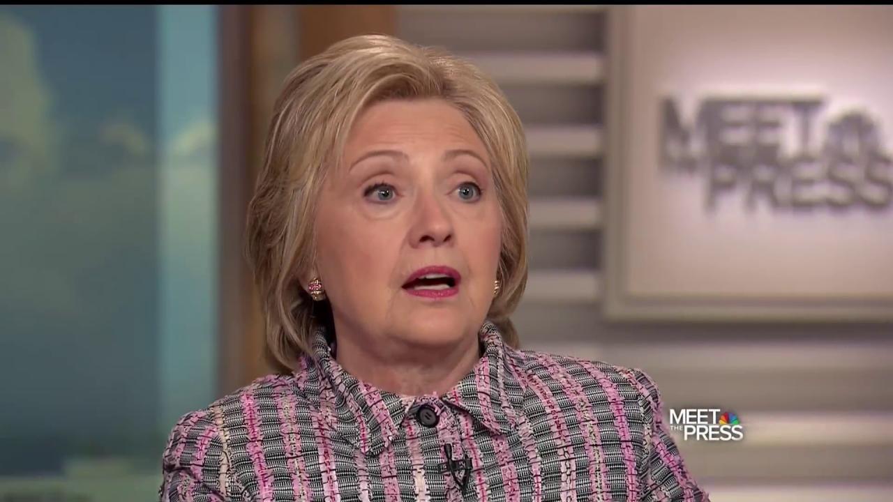 Hillary Clinton Explains Her Plan for Bill