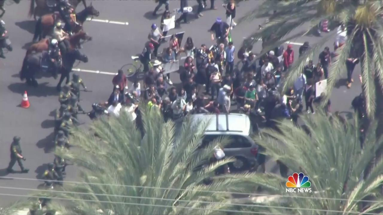Anti-Trump Protests Turn Violent at Rally