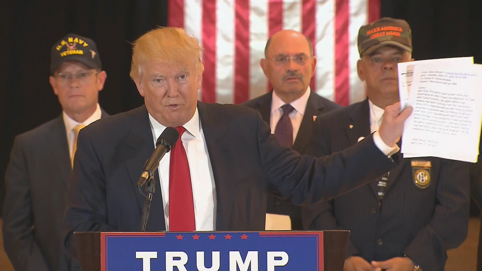 Trump Gave Millions to Vets Groups After Media Report About Donations