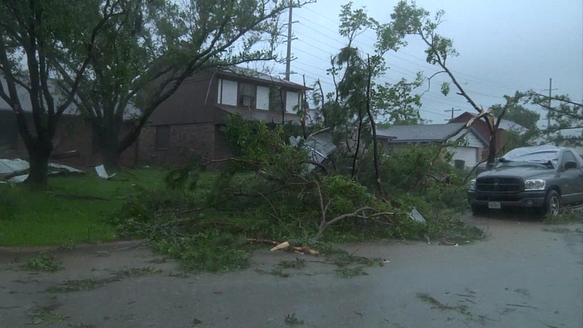 Severe Storms Cause Damage Across Central Texas - NBC News