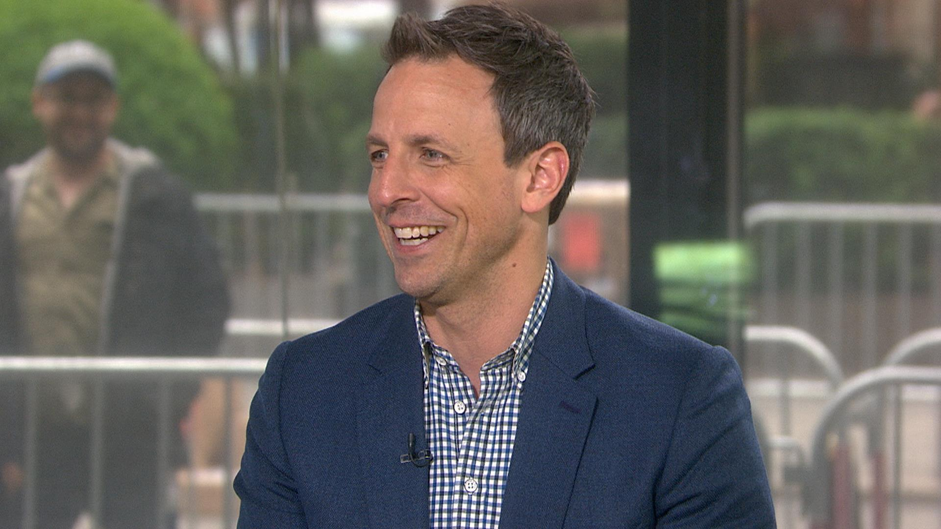Seth Meyers on night terrors, changing diapers, his rap group, Late Night