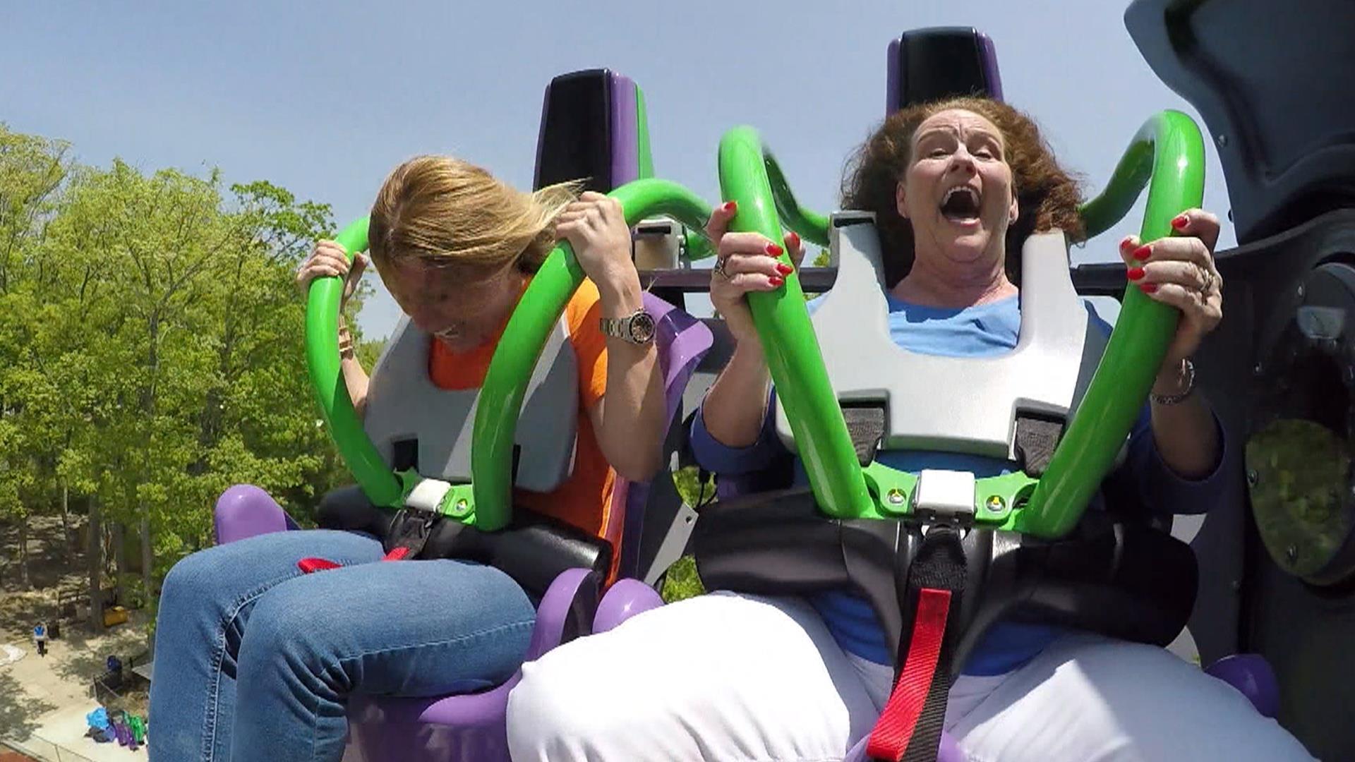 The Joker roller coaster: Watch Jill Martins @#$!-filled ride