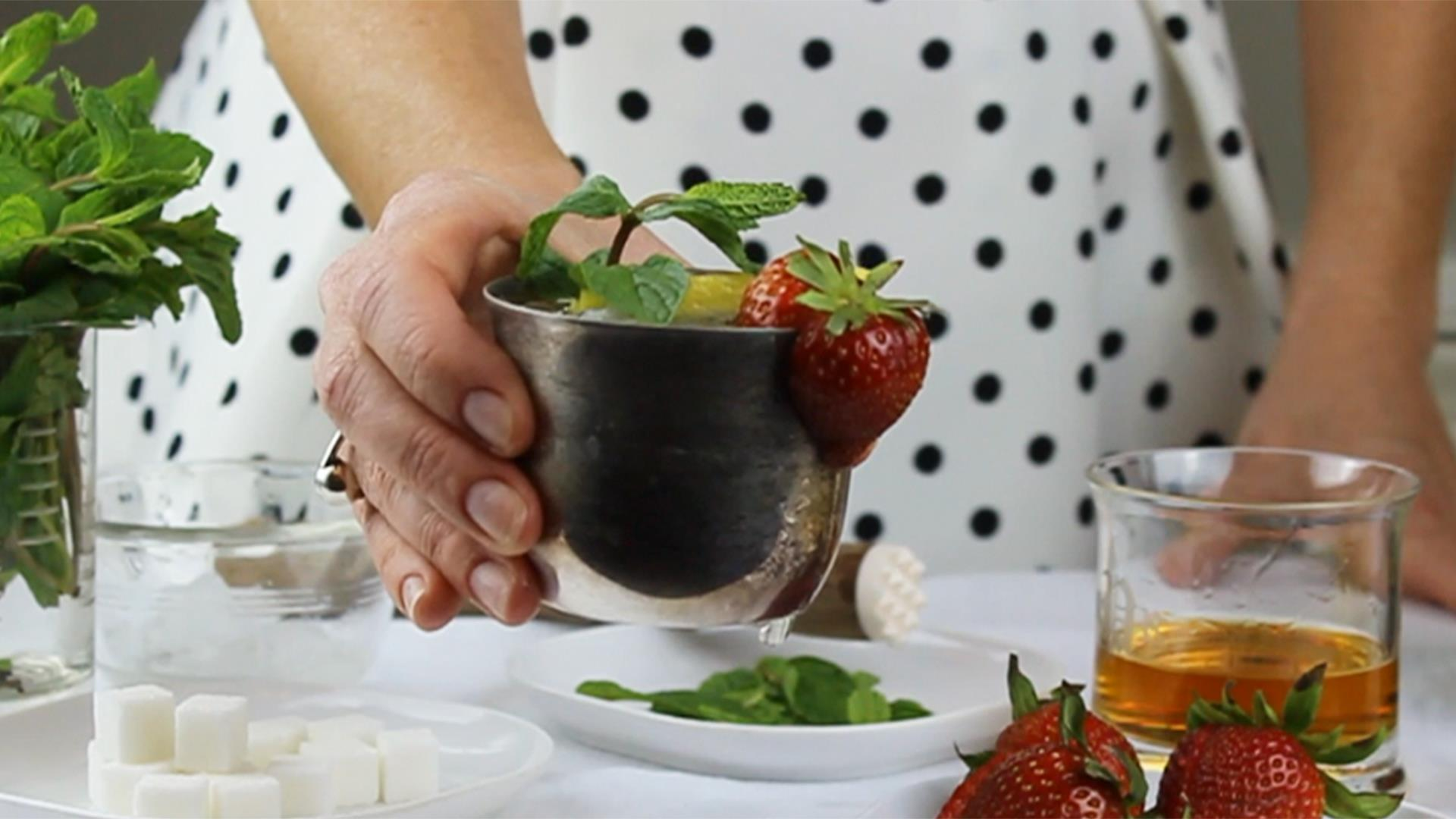Make a champagne mint julep for Derby Day