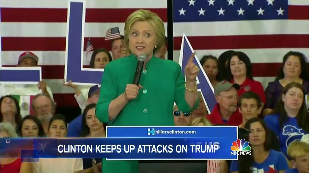 Hillary Clinton Doubles Down in War of Words Against Donald Trump - NBC News