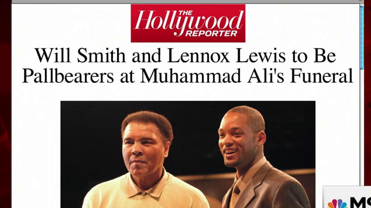 Will Smith to be pallbearer at Ali funeral