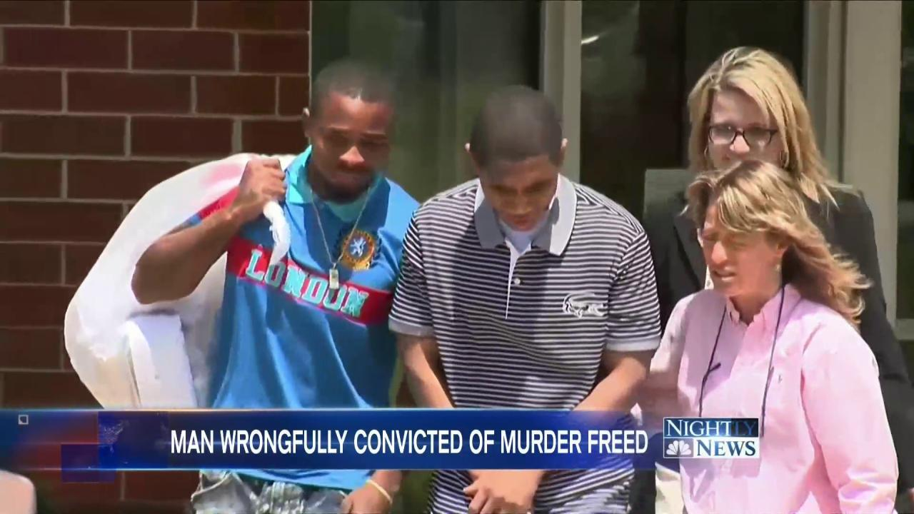 Man Freed Nine Years After Being Wrongly Convicted of Murder at Age 14