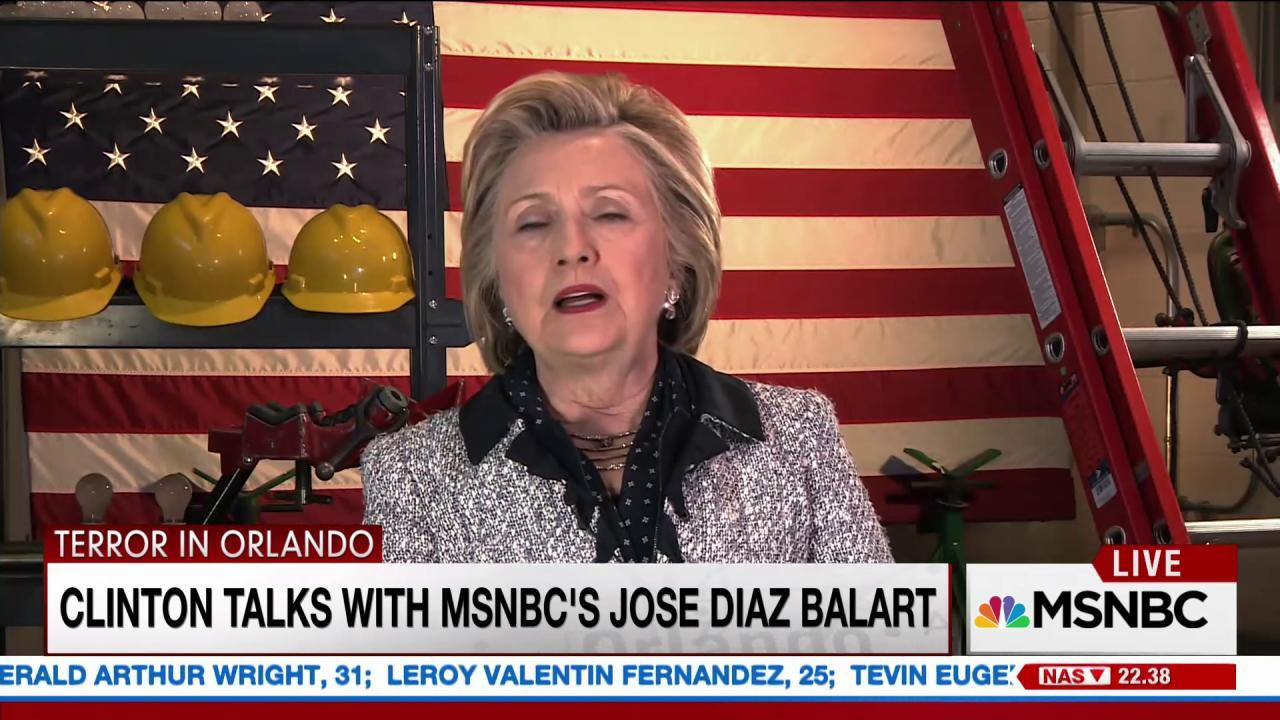 Clinton clarifies her stance on guns