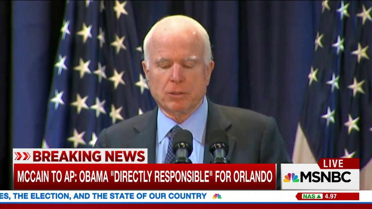 McCain: Obama responsible for Orlando...