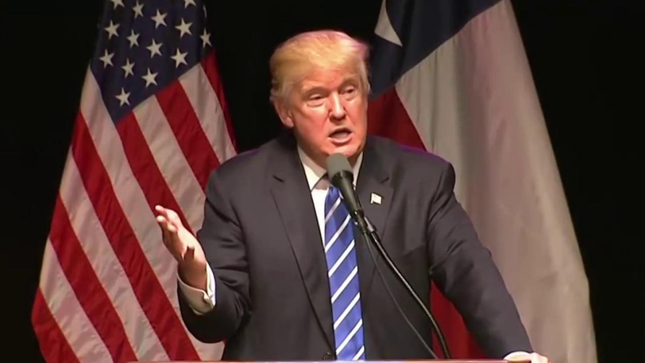 Trump addresses poll slide