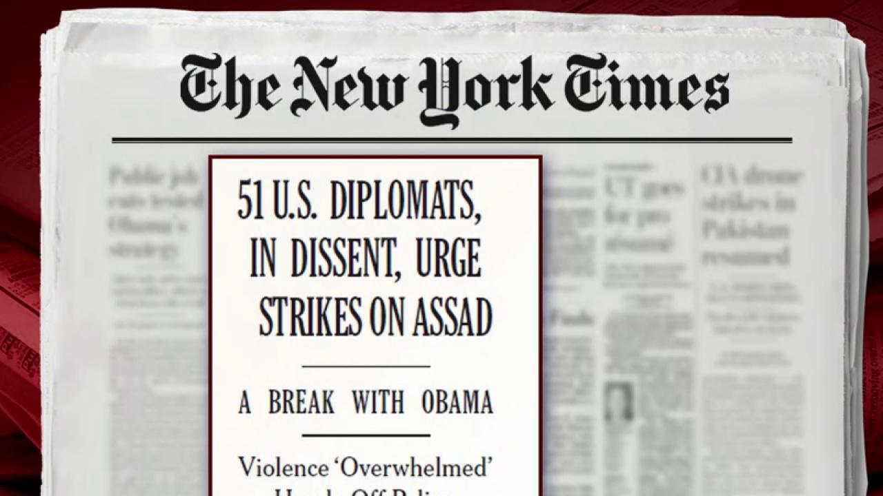 US officials urge strikes against Assad: NYT