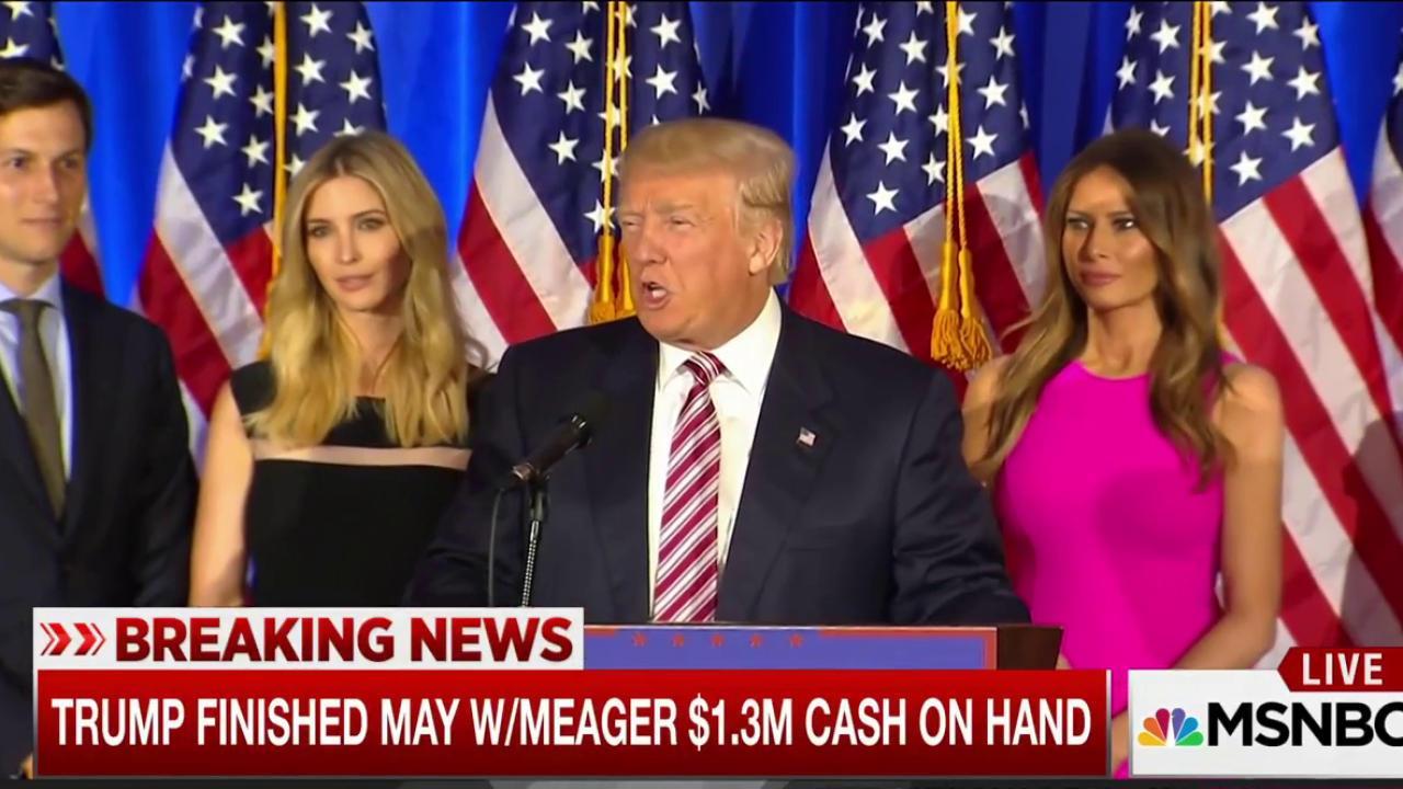 Trump FEC filing: stunningly weak war chest