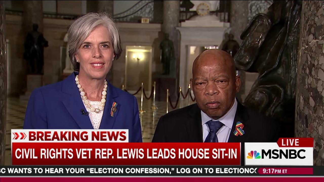 Democrats hold House floor to demand gun vote