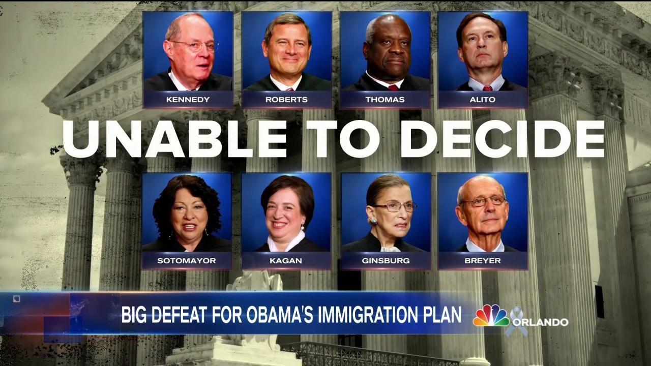 Supreme Court Tie Upholds Halt on Obama Immigration Plan