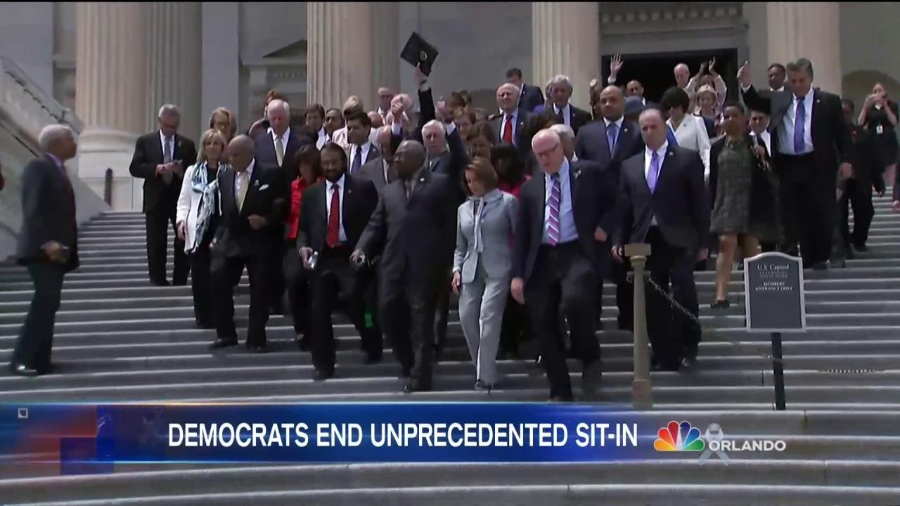 House Democrats End Sit-In After 26 Hours, Vow to Continue Fight
