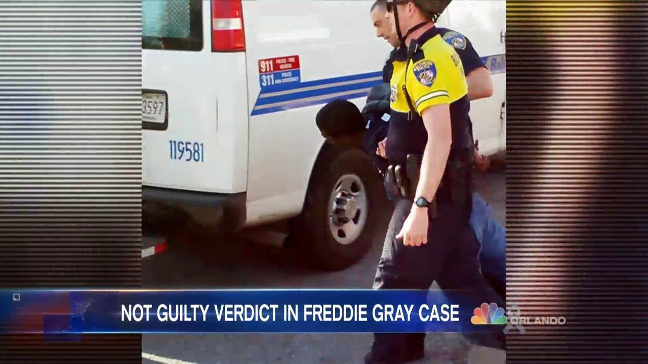 Highest Ranked Cop in Freddie Gray Case Not Guilty on All Counts