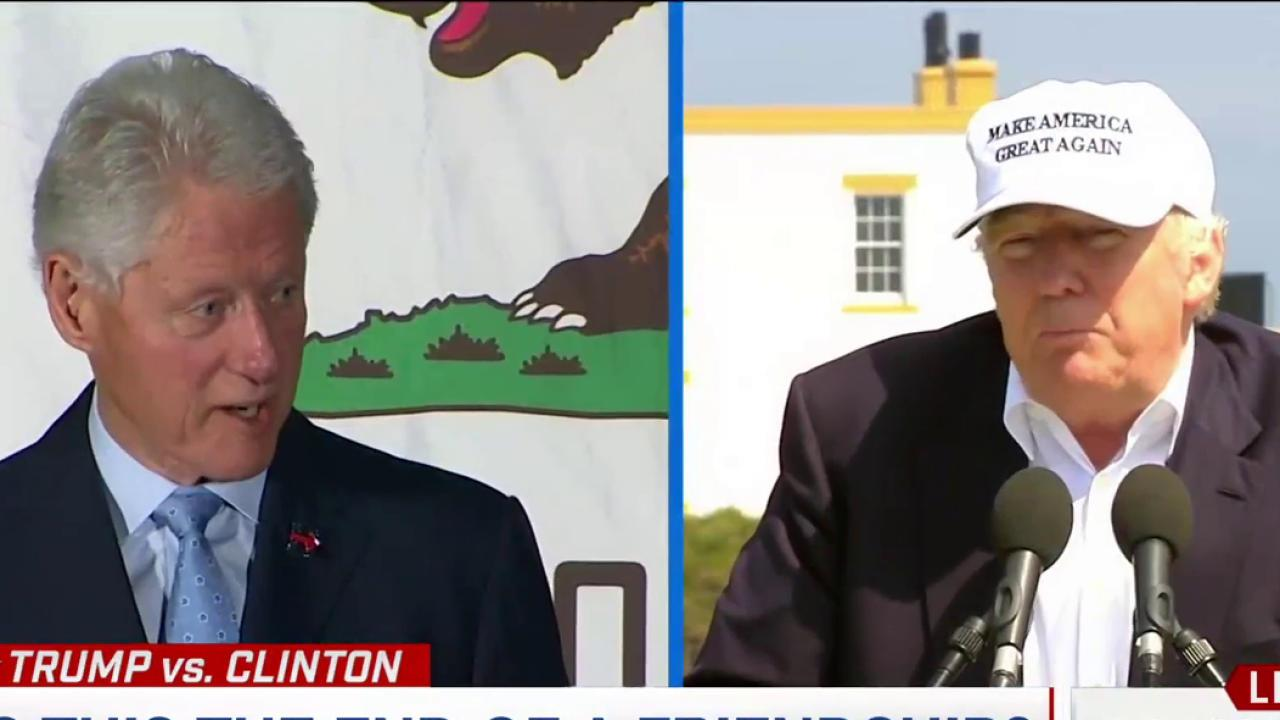 Trump's relationship with the Clintons