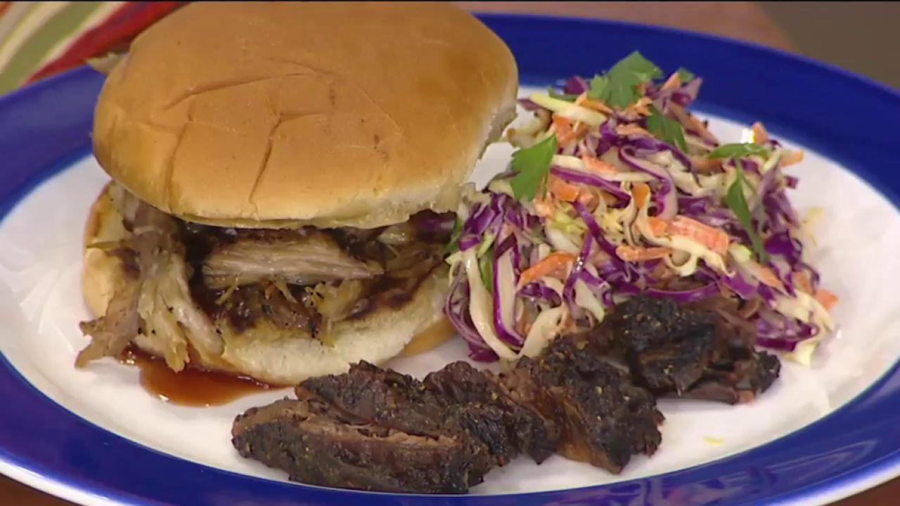 Texas beef ribs, Tennessee pulled pork: Roger Mooking demonstrates