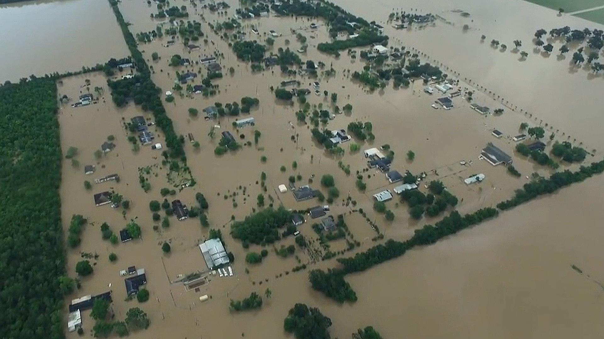 See Extensive Texas Flooding By Air
