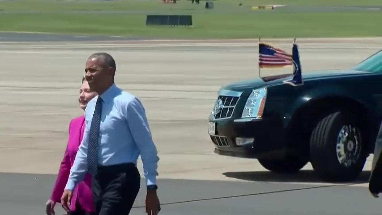Obama and Clinton join forces in NC