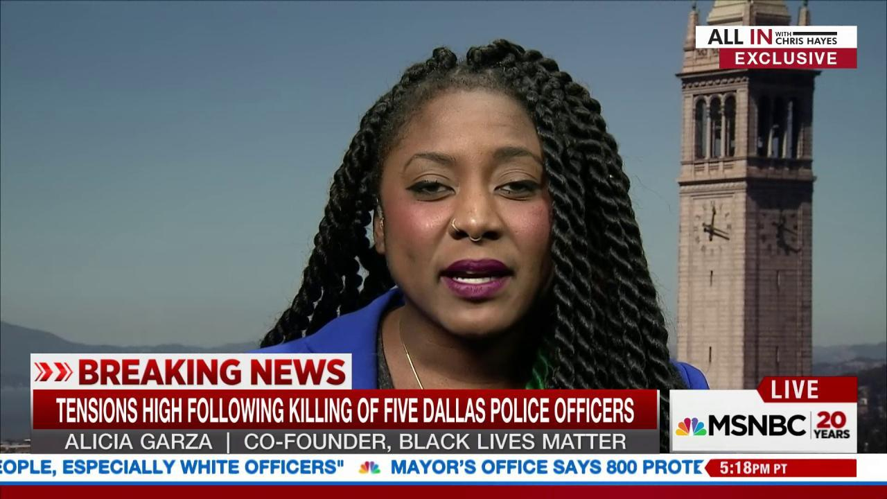 Black Lives Matter responds to Dallas tragedy