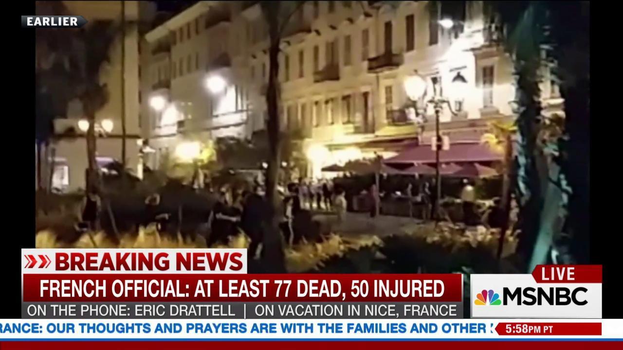 Eyewitness recounts Nice attack
