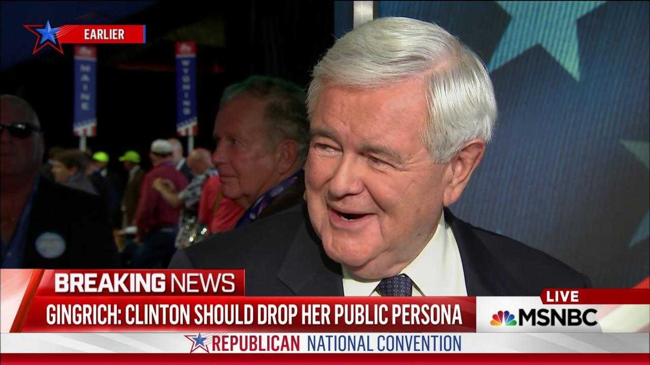 Gingrich on VP pick and the RNC