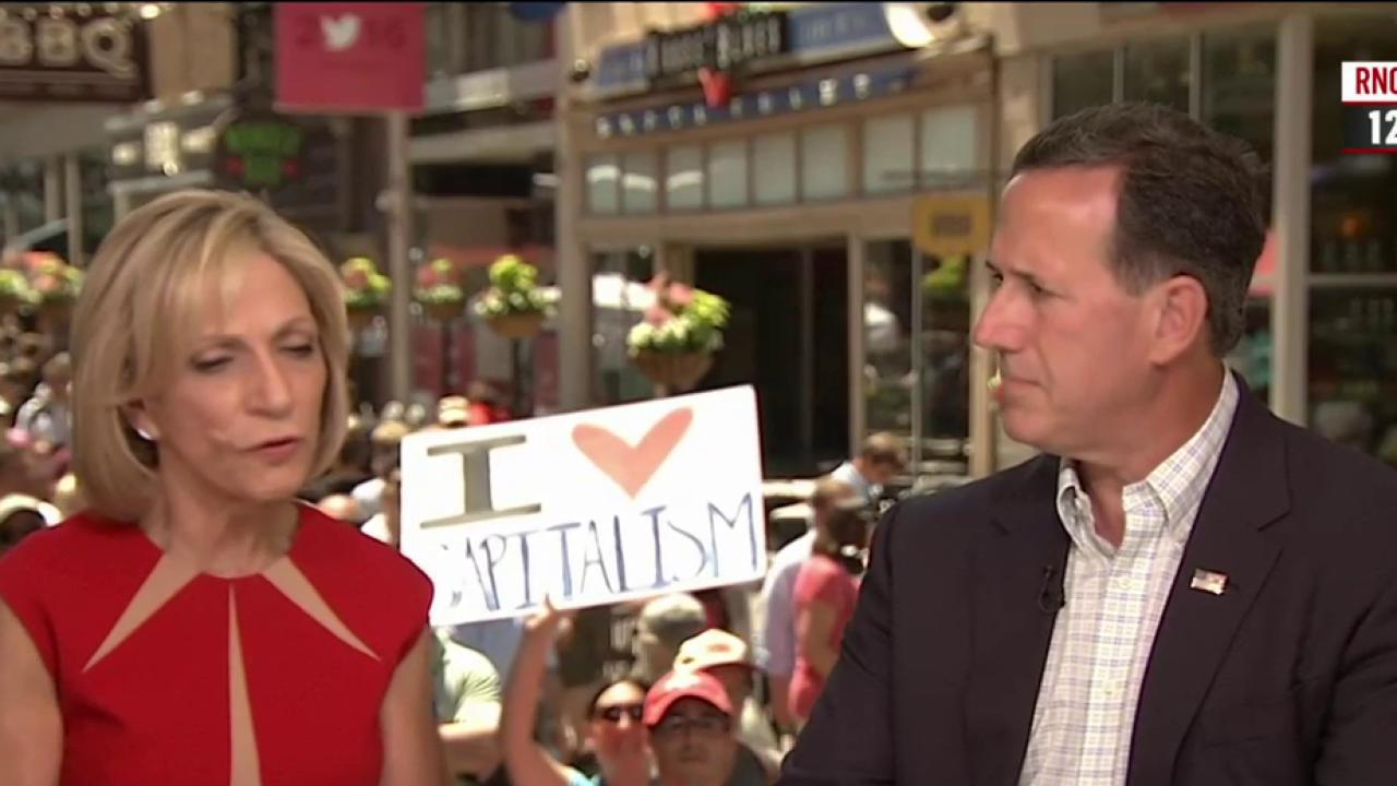 Santorum on Pence: He is 'calming, solid'