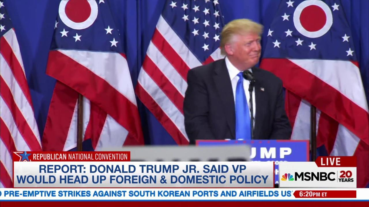 Trump camp courted Kasich for VP