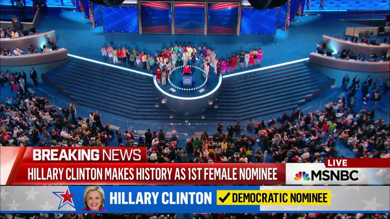 History made for Clinton, United States