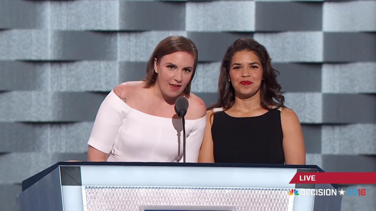 Lena Dunham, America Ferrera speak out...