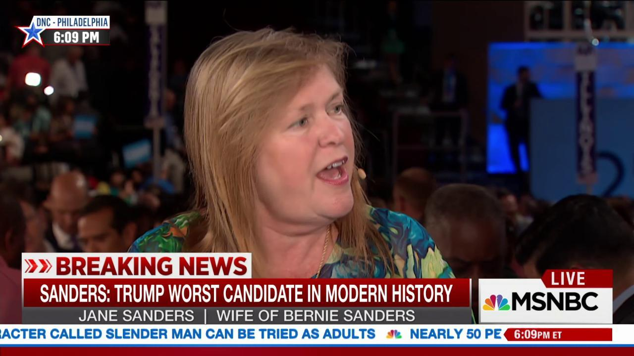 Jane Sanders: Our movement will go on
