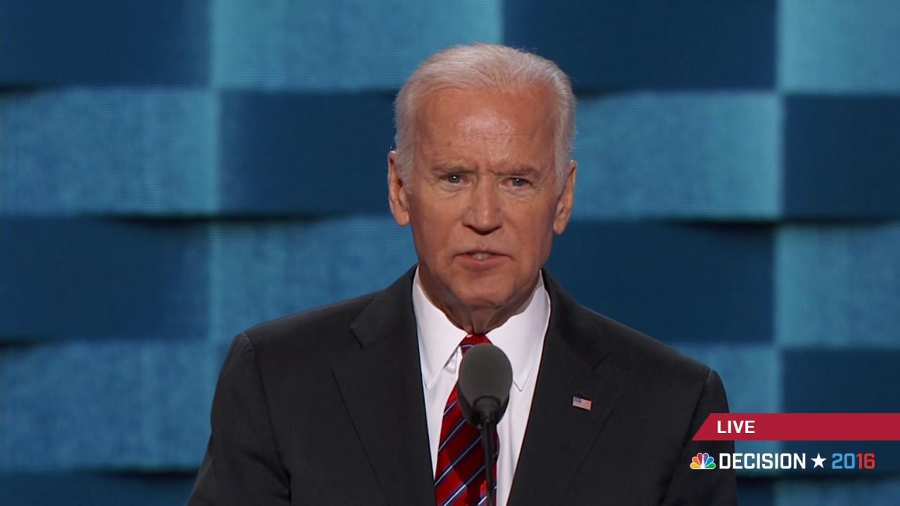 Joe Biden remembers son Beau
