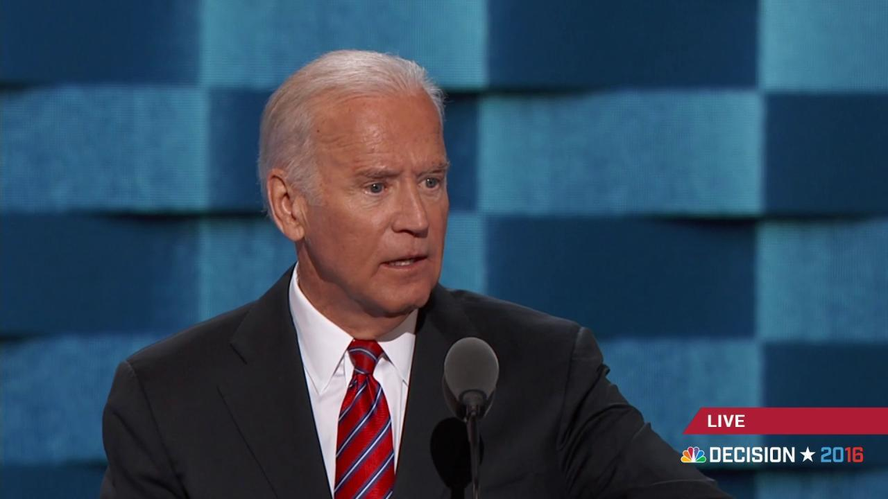 Joe Biden: 'I know Hillary'