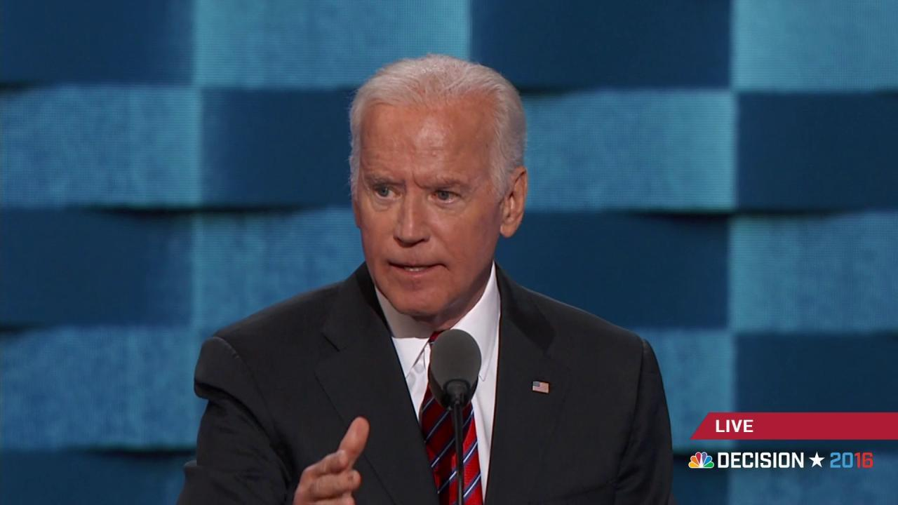 Biden hits Trump over 'you're fired'