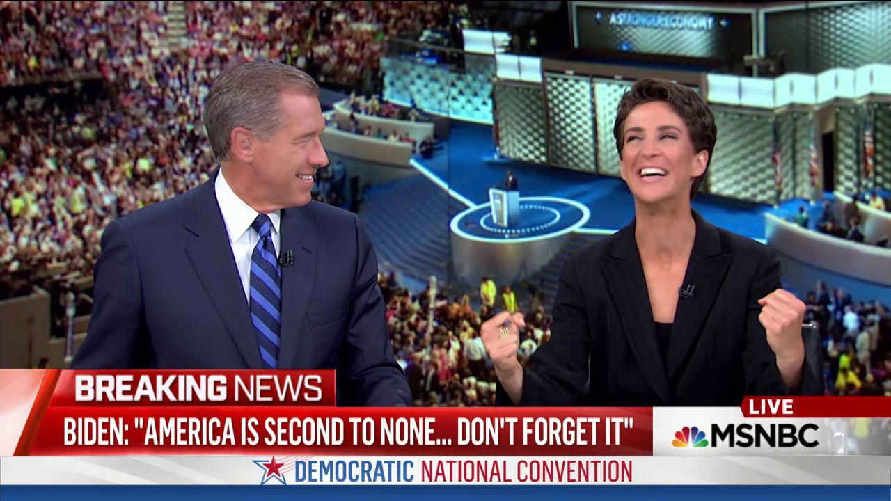 Maddow: 'Joe Biden is a force of nature'