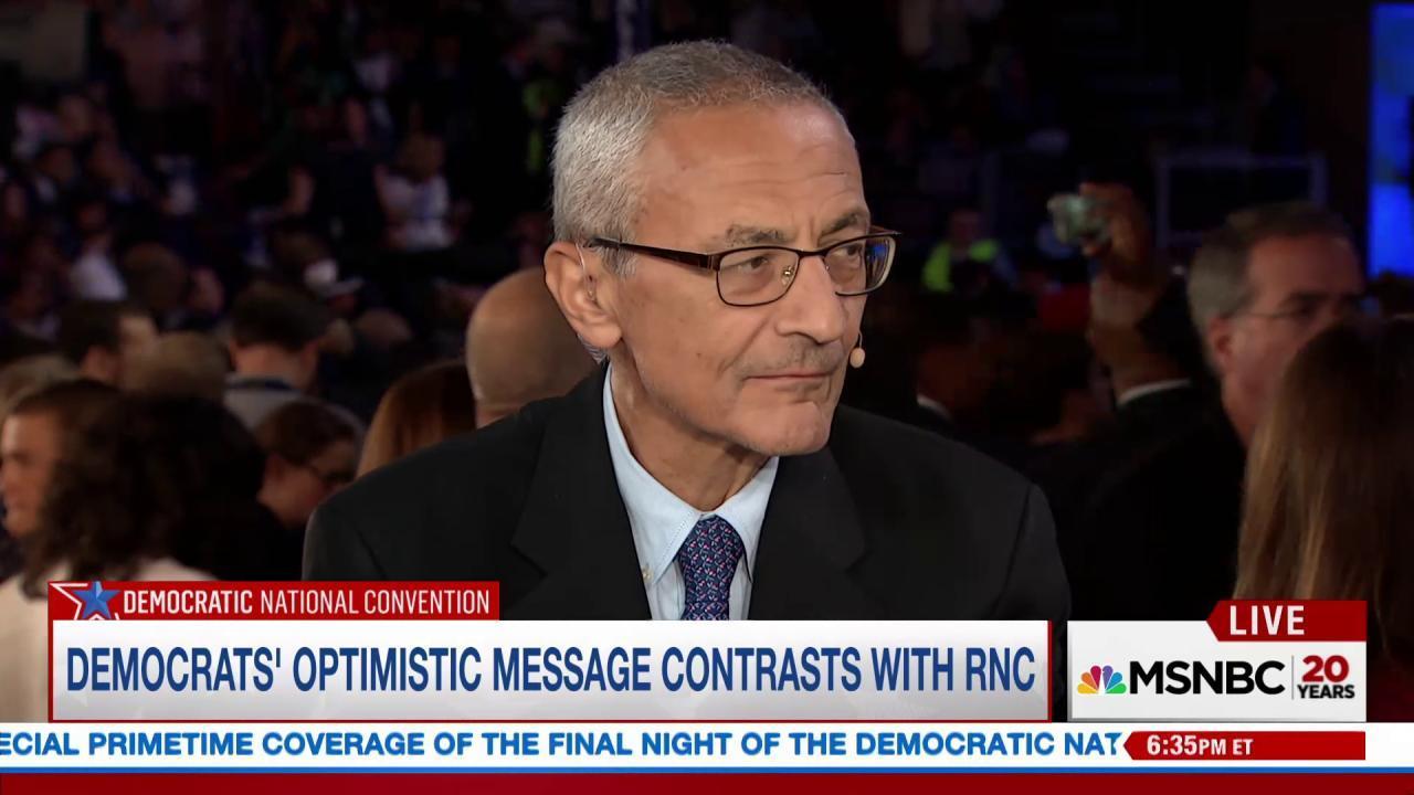 Podesta: Clinton to take on negativity of...