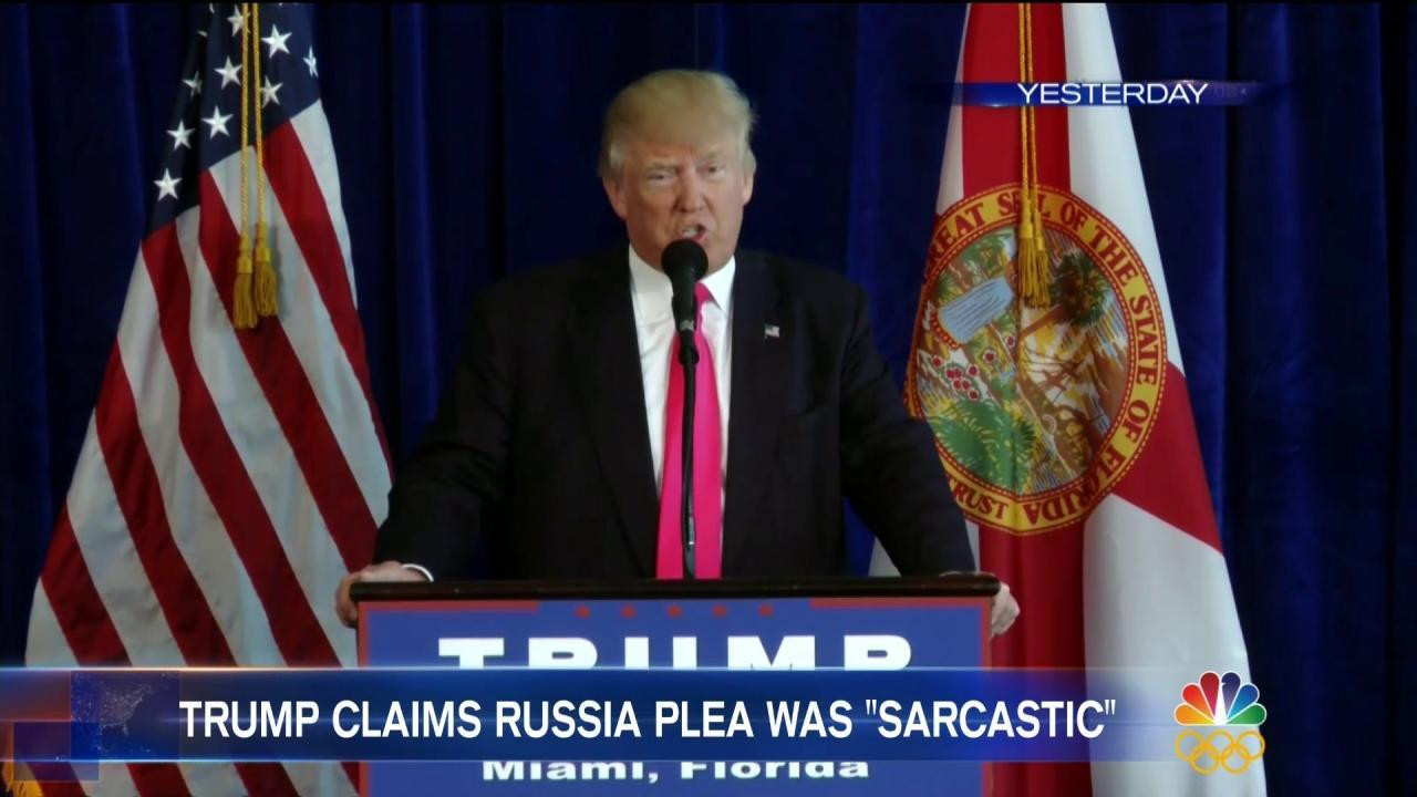 Trump Dials Back on Russia Hack Invitation