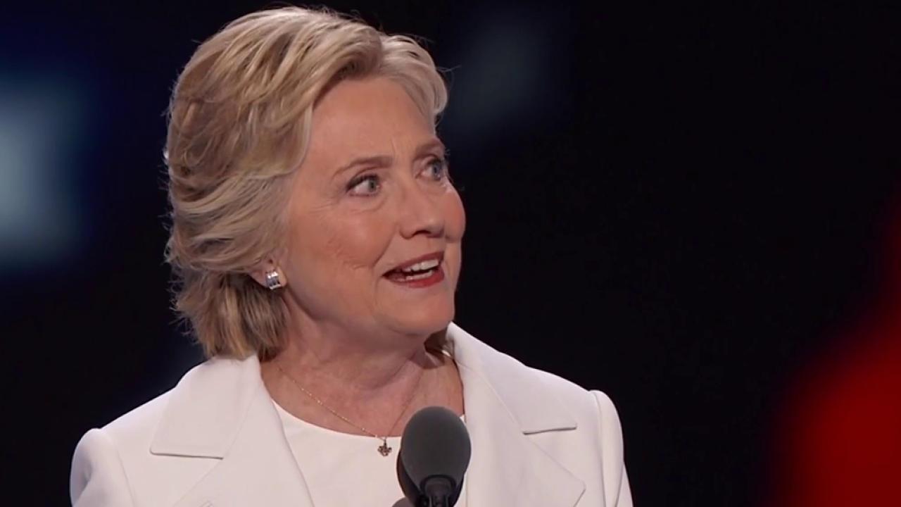 Hillary Clinton officially accepts...