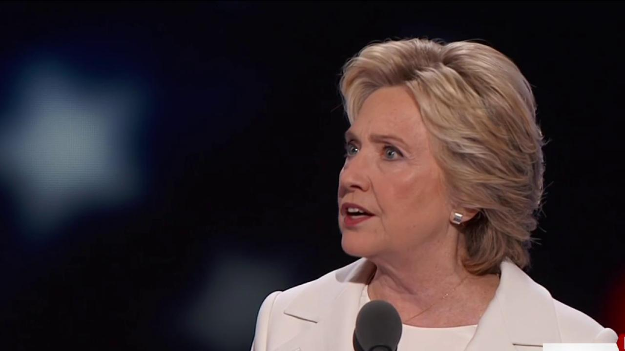Clinton speech broadens party's reach