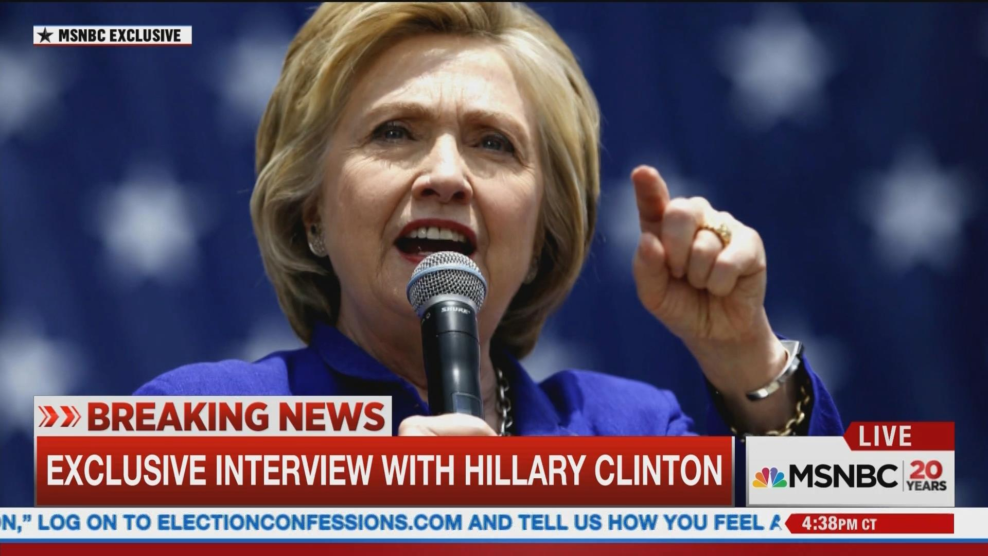 MSNBC Exclusive: Hillary Clinton's First Interview After FBI Meeting - NBC News