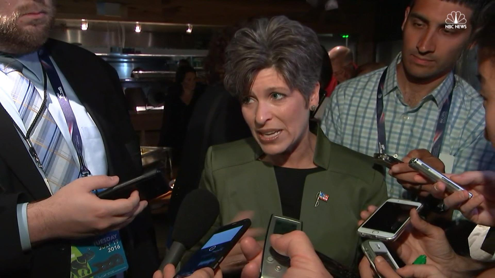 Joni Ernst doesn't know if speech 'lifted...