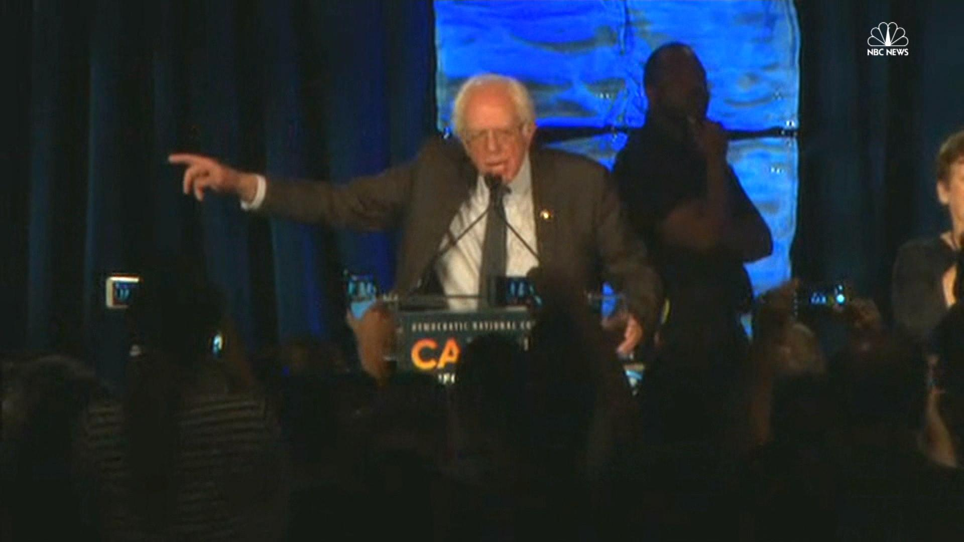 Sanders: 'It is easy to boo, but…'