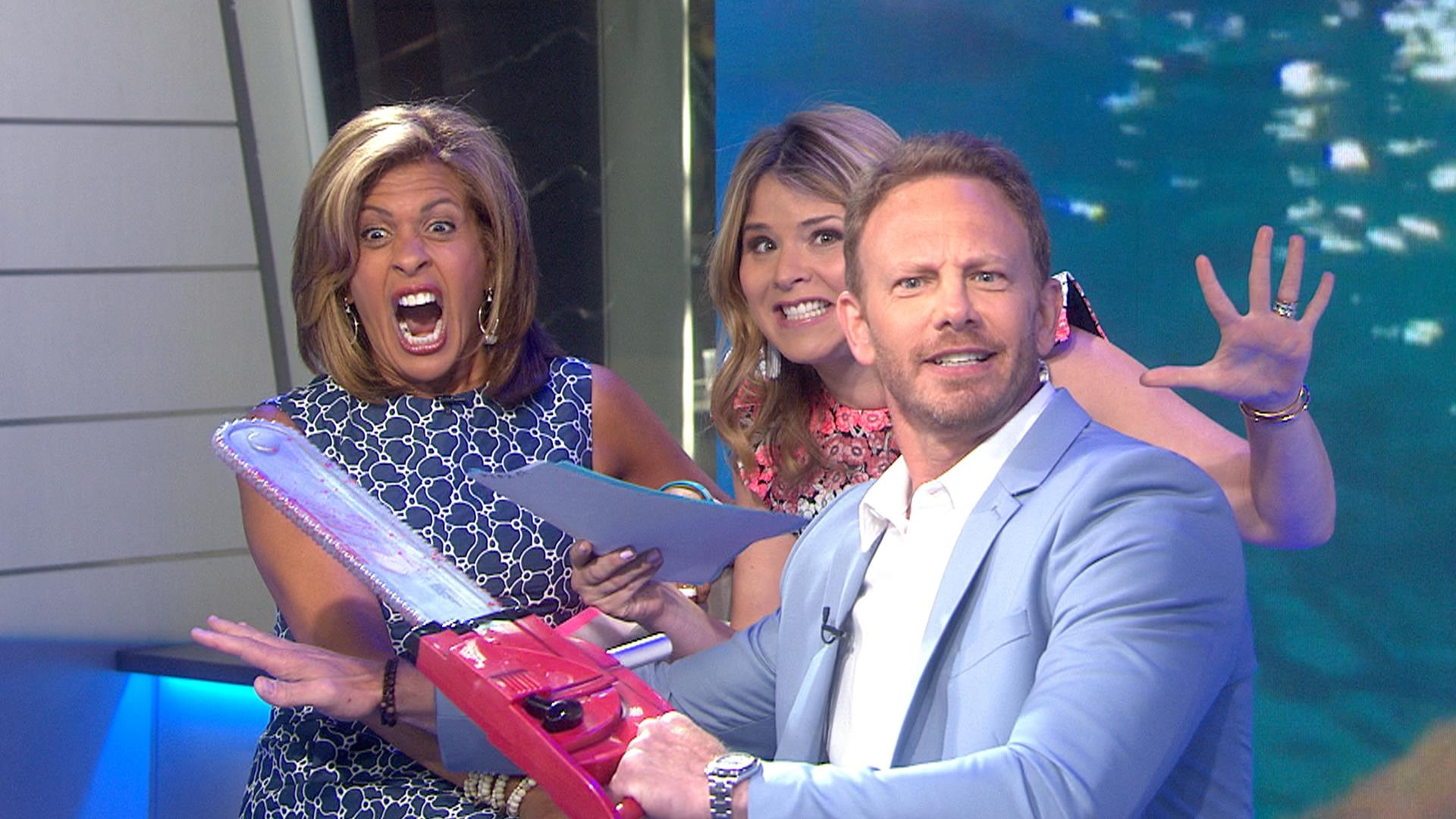 Sharks beware: Ian Ziering is back with his Sharknado chainsaw