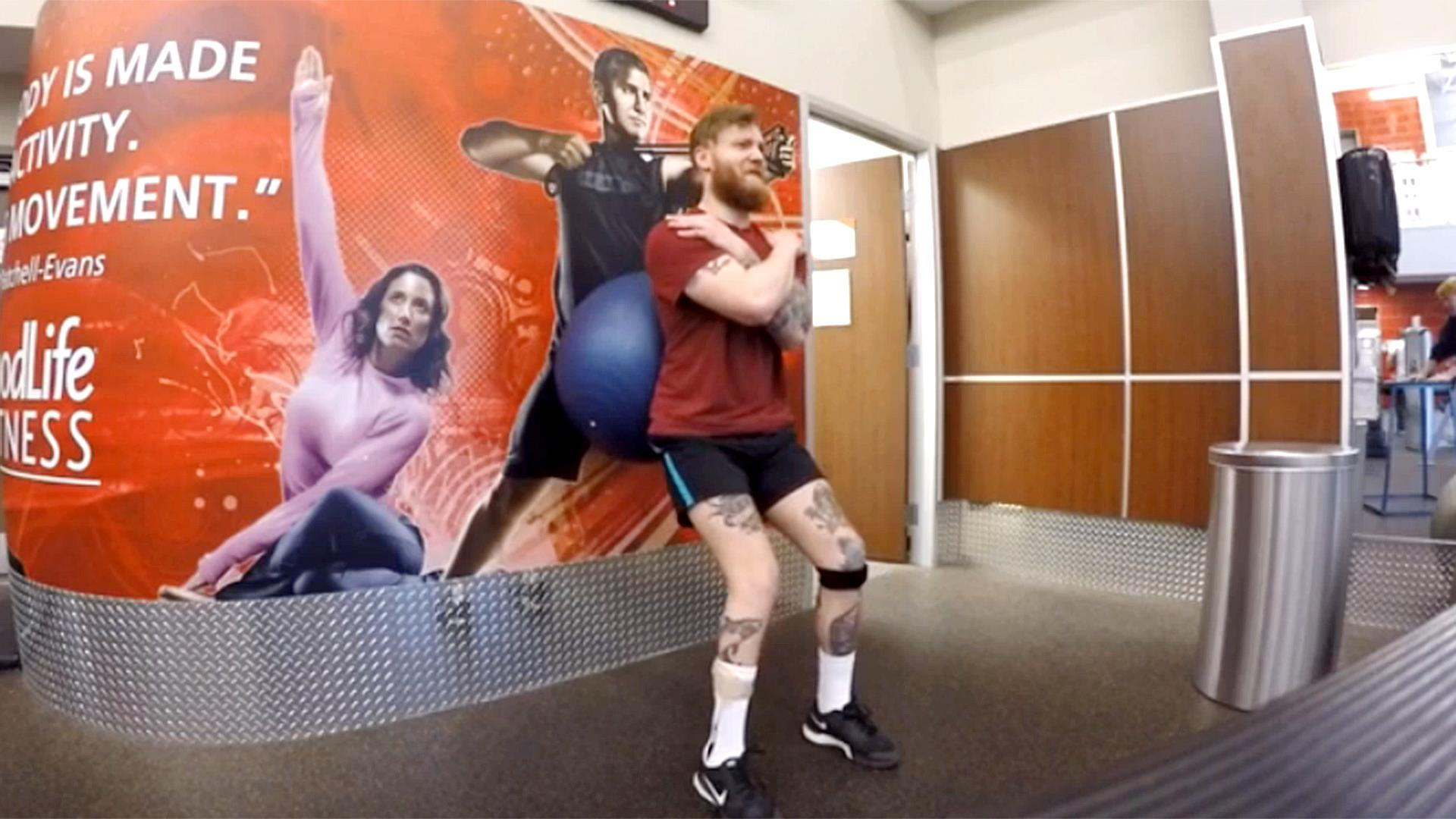Steve Alexy bodybuilder with Cerebral Palsy. In own this