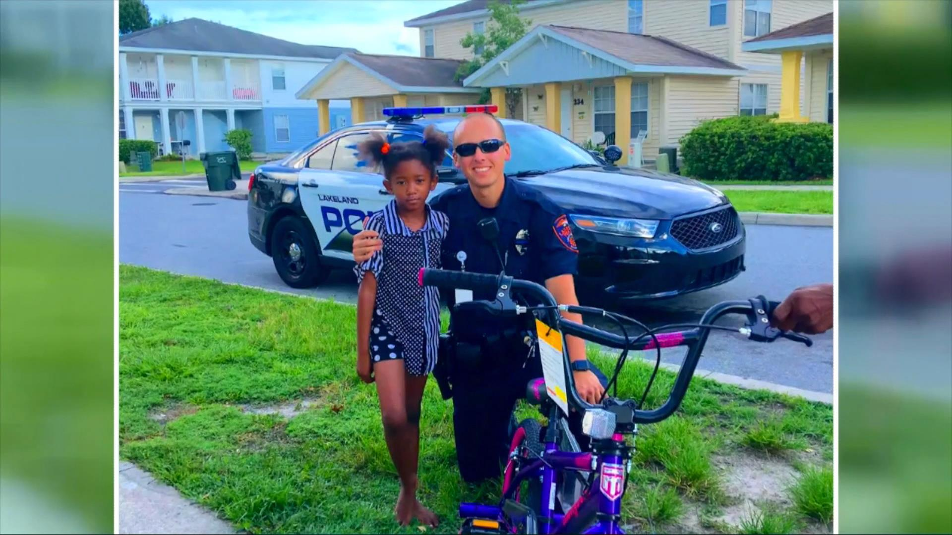 Florida officer makes 6-year-olds day with bike surprise