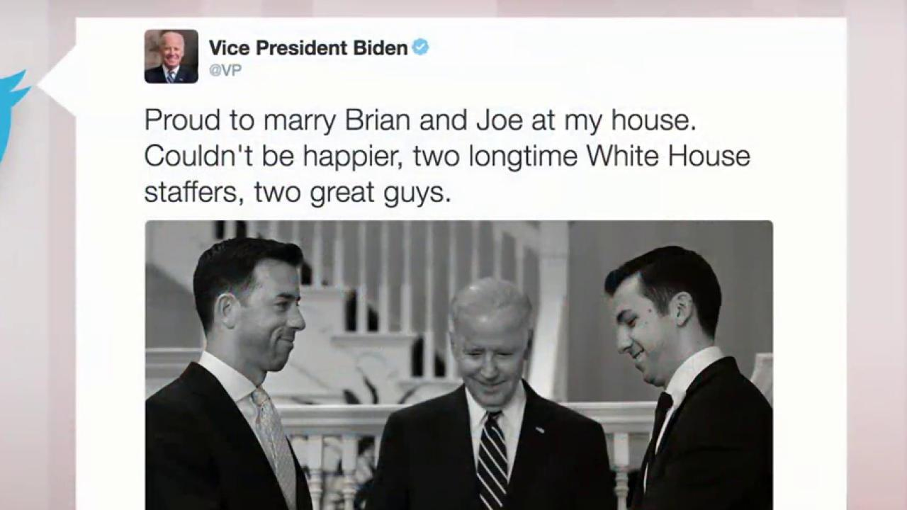 Vice president officiates same-sex wedding