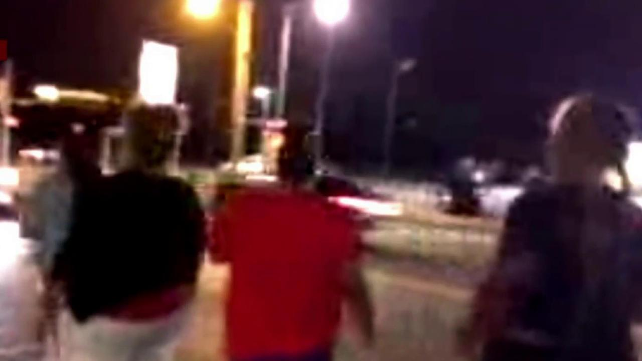 Gunfire reportedly erupts at Ferguson protest